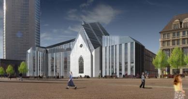 Stavba nové Univerzity v Lipsku od Ericka van Egeraata dosáhla nejvyššího bodu - Vizualizace projektu - foto: © EEA