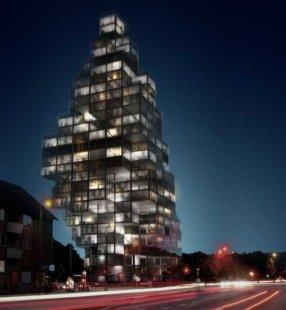 MVRDV zvítězili v soutěži na Rødovre Skyscraper do Kodaně - foto: MVRDV