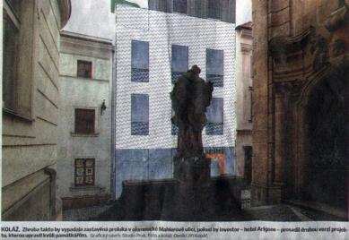 K návrhu novostavby hotelu Arigone v Mahlerově ulici v Olomouci - foto: Deník