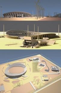 Le Corbusierův návrh olympijského stadionu pro Bagdád - foto: Rasto Udzan