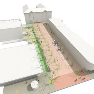 Město Dobříš má připravený projekt k rekonstrukci náměstí - foto: FAM Architekti, s.r.o.