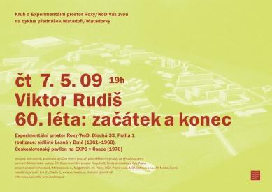 Cyklus Matadoři/Matadorky - Viktor Rudiš - Plakát - foto: Kruh