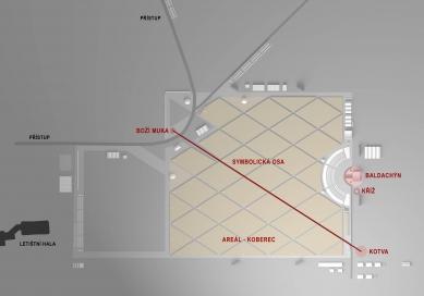 Areál pro návštěvu papeže v Brně navrhuje Marek Jan Štěpán - Situace areálu - foto: archiv autora