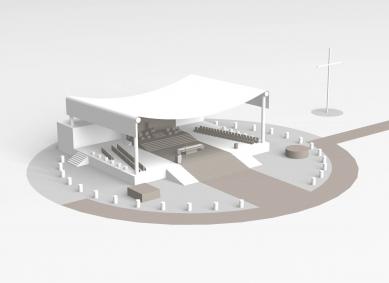 Areál pro návštěvu papeže v Brně navrhuje Marek Jan Štěpán - Pódium Sv. otce - foto: archiv autora