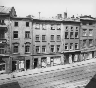 Středoevropské forum Olomouc - architektonická studie - Olomouc, Denisova ulice, situace v roce 1969 - foto: © Muzeum umění Olomouc