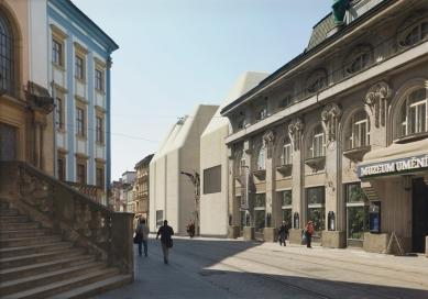 Středoevropské forum Olomouc - architektonická studie - SEFO, pohled od náměstí Republiky - foto: © Design4function s.r.o.