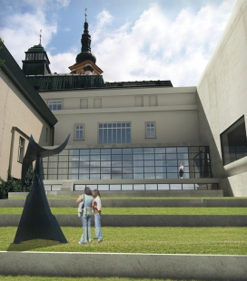 Středoevropské forum Olomouc - architektonická studie - SEFO, rekonstrukce – atrium - foto: © Design4function s.r.o.