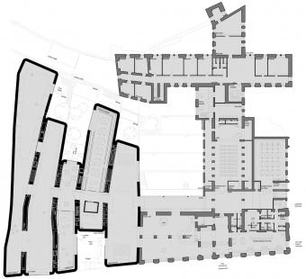 Středoevropské forum Olomouc - architektonická studie - SEFO, půdorys přízemí - foto: © Design4function s.r.o.