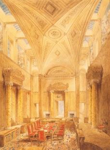 Středoevropské forum Olomouc - architektonická studie - John Soane, Síň královské rady, 1827–1831, Londýn - foto: © Muzeum umění Olomouc