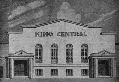 Středoevropské forum Olomouc - architektonická studie - Kino Central, 1926 - foto: © Muzeum umění Olomouc