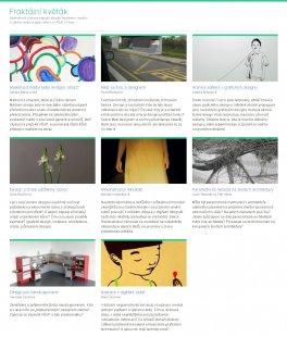 Pozvánka na výstavu Fraktální květák: umění bez měřítek