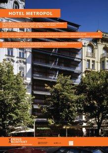 Pozvánka na diskuzní setkání Dům versus architekt: Hotel Metropol - foto: VERSUS ARCHITEKT