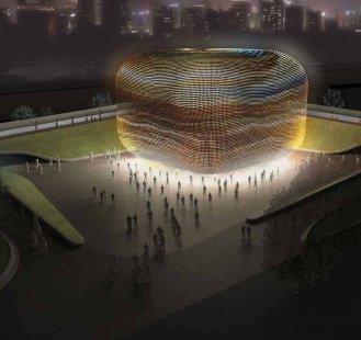 Britský pavilon pro šanghajské Expo 2010 od Thomase Heatherwicka  - Vítězný návrh z roku 2007. - foto: Heatherwick studio