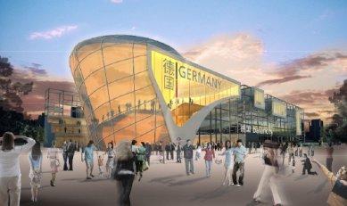 Německý pavilon pro šanghajské Expo 2010 od Schmidhuber + Kaindl - Vítězný návrh z roku 2008. - foto: Schmidhuber + Kaindl
