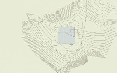 Projekt přestavby Rambertovy chaty od Bonnard Woeffray Architectes - Situace - foto: BW Architectes