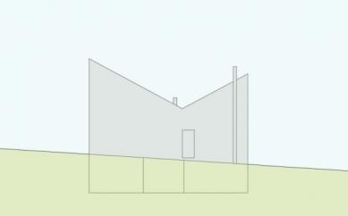 Projekt přestavby Rambertovy chaty od Bonnard Woeffray Architectes - Zadní pohled - foto: BW Architectes