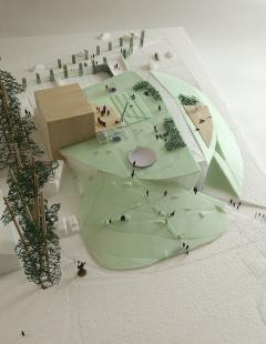 Výsledky soutěže na kulturní centrum v Rožnově pod Radhoštěm - 2. cena - Model - foto: Ing. arch. Jan Línek - L & P architektonický ateliér