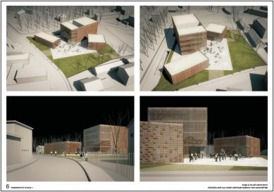 Výsledky soutěže na kulturní centrum v Rožnově pod Radhoštěm - 1. cena - Perspektivy (1. etapa) - foto: KUBA & PILAŘ architekti