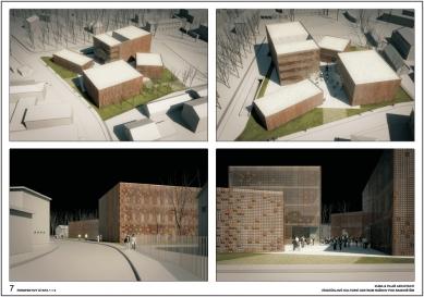 Výsledky soutěže na kulturní centrum v Rožnově pod Radhoštěm - 1. cena - Perspektivy (2. etapa) - foto: KUBA & PILAŘ architekti