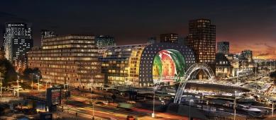 Začátek stavby tržnice v Rotterdamu od MVRDV - foto: Provast
