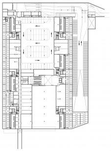 Začátek stavby tržnice v Rotterdamu od MVRDV - Půdorys 1.pp - foto: MVRDV