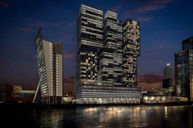 Zahájení stavby De Rotterdam od OMA - Noční pohled - foto: OMA