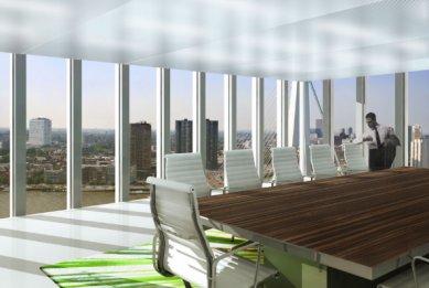 Zahájení stavby De Rotterdam od OMA - Interiér zasedací místnosti - foto: OMA