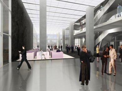 Zahájení stavby De Rotterdam od OMA - Vstupní hala - foto: OMA