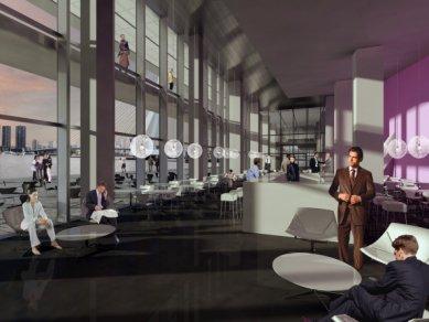 Zahájení stavby De Rotterdam od OMA - Vstupní lobby - foto: OMA