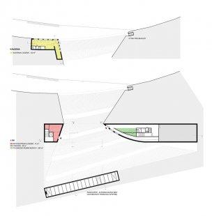 JKF 2010 - třetí místo v kategorii urbanismus - Půdorys kavárny a 1.pp - foto: Kateřina Fryzelková