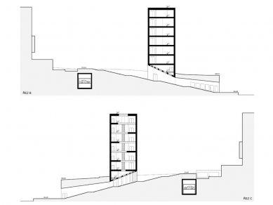 JKF 2010 - třetí místo v kategorii urbanismus - Řez B-B' a C-C' - foto: Kateřina Fryzelková