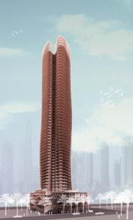 Magnolia Tower v Dubaji od Sadar Vuga Arhitekti - Denní pohled - foto: Sadar Vuga Arhitekti