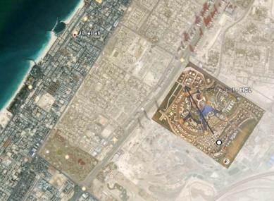 Magnolia Tower v Dubaji od Sadar Vuga Arhitekti - Situace - foto: Sadar Vuga Arhitekti