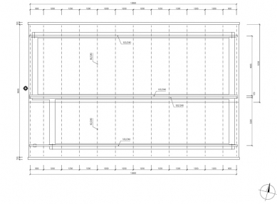 RD Rýmařov postavil pasivní dům sdifúzně otevřenou konstrukcí, který vznikl na bázitypového projektu domu Kubis Lumio - Půdorys krovu