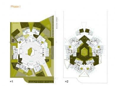Sídliště v texaském El Paso od OFIS arhitekti - Půdorys přízemí a 1.np - foto: OFIS arhitekti