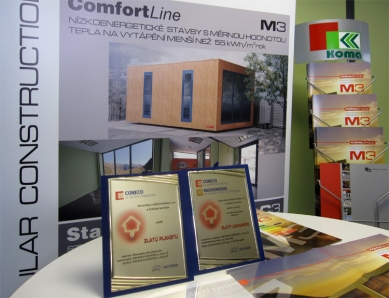 Novinka: Nízkoenergetický modul na stavebním veletrhu IBF 2010 v Brně - Na veletrhu CONECO získal nízkoenergetický modul Zlatú plaketu a expozice firmy KOMA Zlatého Leonarda