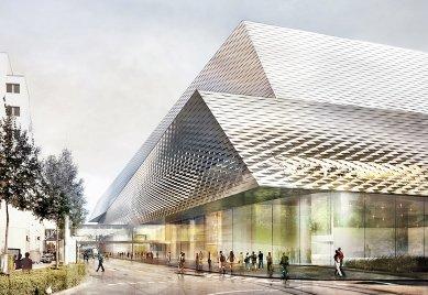 Messezentrum Basel 2012 od H&deM - foto: Herzog & de Meuron