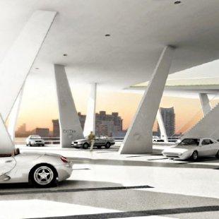 Parkovací dům v Miami od H&deM - Vizualizace - foto: Herzog & de Meuron