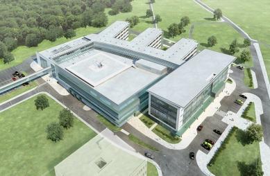 Architekti Zbigniew Reszka, Michał Baryżewski a Michał Afeltowic navrhli nové Centrum invazivní medicíny vGdańsku