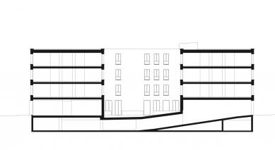 Diakonie v Düsseldorfu od baumschlager eberle architekten - Řez diakonií - foto: Baumschlager Eberle, Lochau