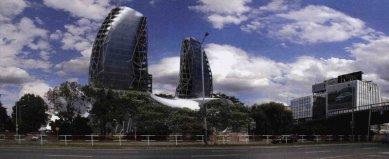 Holešovický meziválečný areál Ferra v ohrožení - Cubespace, s.r.o. - Phoenix City, studie 2009 - foto: web městské části Praha 7