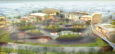 V urbanistické soutěži o návrh revitalizace území Černá louka zvítězil nizozemský ateliér Maxwan - Vizualizace vítězného návrhu - foto: Maxwan