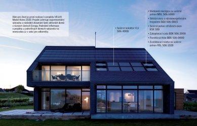 Výrobky VELUX vhodné do nízkoenergetických staveb - Výrobky VELUX v Domě pro život. Dům pro život je první realizací z projektu VELUX Model Home 2020. Projekt zahrnuje experimentální výstavbu a následné zkoumání šesti aktivních domů v různých částech Evropy.
