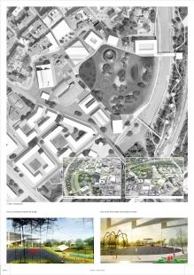 První místo v urbanistické soutěži na revitalizaci území Černá louka - foto: Maxwan Architects + Urbanists