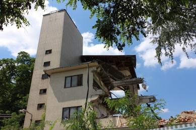 Budova libeňské loděnice od Jaroslava Fragnera zničena - foto: Lukáš Beran, 27.06.2010