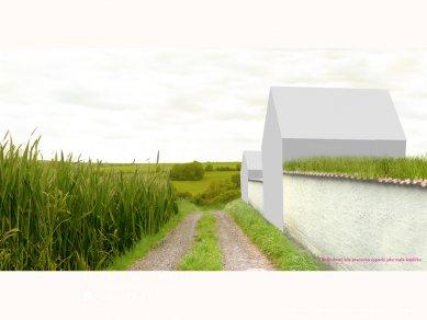 Ida Čapounová - Venkov a krajina - Pohled za hradbu domů