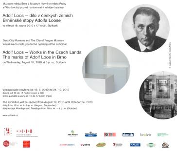 Pozvánka na výstavu: Adolf Loos — dílo v českých zemích