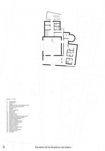 Výsledky soutěže 'Smuteční síň do Roudnice nad Labem' - 1. cena (100.000 Kč) - návrh č. 100 (obdržel 12 bodů) - foto: A.D.N.S. s. r. o.