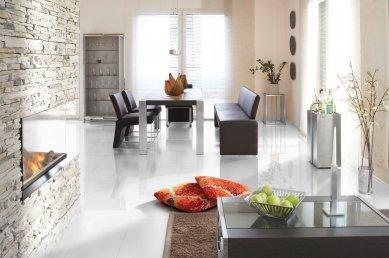 Kolekce Witex Color a Witex Color+:  Individuální design pro nadstandardní bydlení  - Laminátová podlaha Witex kolekce Color, dekor Bílá vysoký lesk - foto: KPP