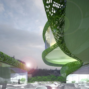 Shopping Pillow Terraces in Ljubljana by OFIS arhitekti - foto: OFIS arhitekti